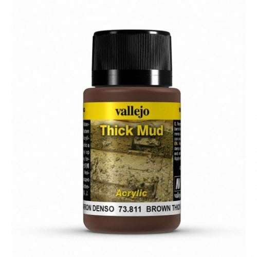 Vallejo Weathering Effects Brown Thick Mud 40 ml - Ozzie Collectables