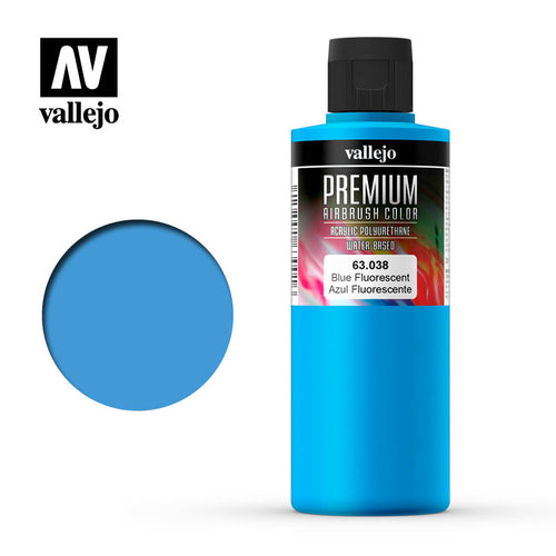 Vallejo Premium Colour Fluorescent Blue 200ml - Ozzie Collectables