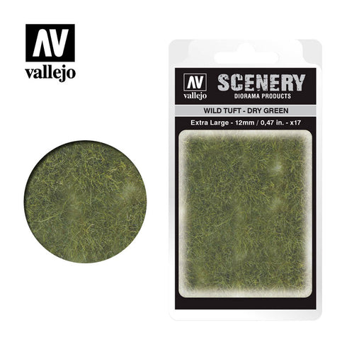 Vallejo Scenery - Wild Tuft - Extra Large - Dry Green - Ozzie Collectables