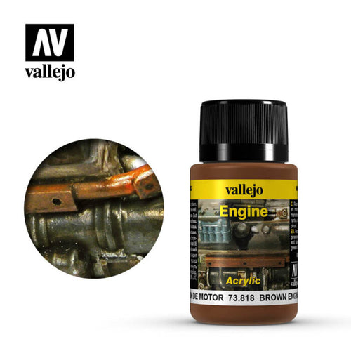 Vallejo Weathering Effects - Brown Engine Soot 40 ml