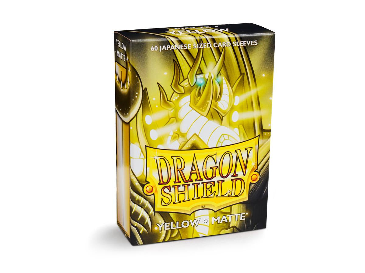 Sleeves - Dragon Shield Japanese- Box 60 - Yellow MATTE - Ozzie Collectables