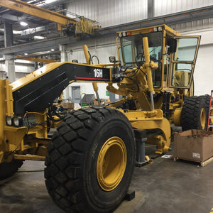 Cat 16H Grader Automatic Lubrication Grease System was installed to reduce wear and repairs