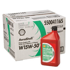 AEROSHELL W 15W-50 Semi-Synthetic Motor Oil for Aircraft Piston Engines - Case