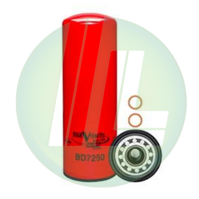 BALDWIN BD7250 High Velocity Dual-Flow Lube Spin-On Fuel Filter