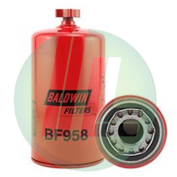 BALDWIN BF958 Fuel/Water Separator Storage Tank Spin-On Fuel Filter with Drain