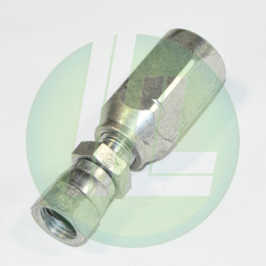 "Eaton Weatherhead 42506N-606 Reusable High Pressure Hydraulic Female Swivel Fitting End Assembly for 3/8"" Hose"