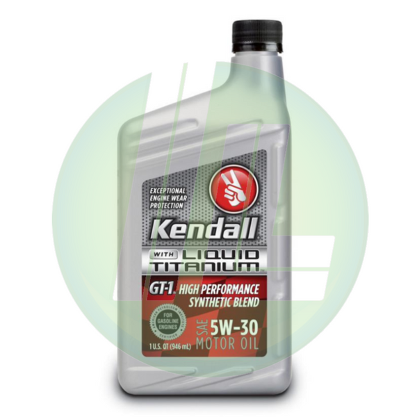 KENDALL GT-1 High Performance Synthetic Blend 5W-30 Motor Oil - Case