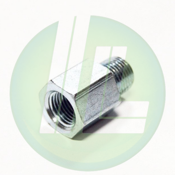 "Lincoln Industrial 10182 Quicklub Straight Adapter Fitting - 1/8"" x 1/8"" NPT"