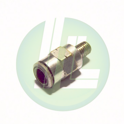"Lincoln Industrial 244055 Quicklub 1/4"" Tube x 1/4-28"" Male Straight Quicklinc Push-In Style Fitting for Nylon Tubing"