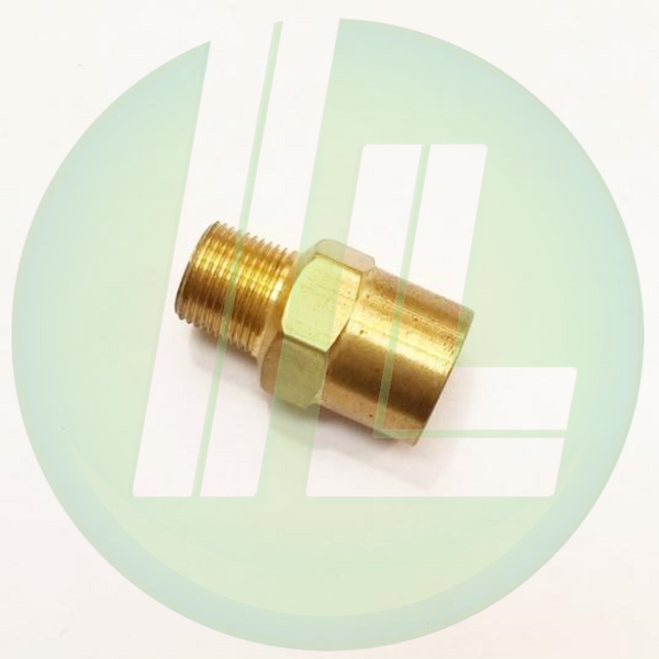 "Lincoln Industrial 10204 Brass Reducing Bushing 1/4"" NPT (f) x 1/2"" - 27 (m) Medium Pressure Pump Accessory Parts"