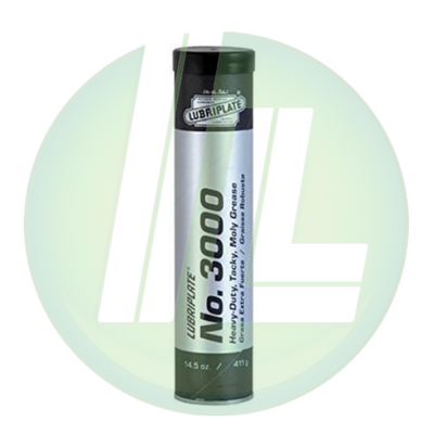 LUBRIPLATE 3000 Tacky, Moly-Lithium Extreme Pressure Multipurpose Heavy-Duty Grease Lubricant - Pack