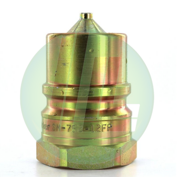 Parker Hydraulic SM-752-12FP Quick Connect/Disconnect Nipple Coupler Assembly Female Pipe - SM Series