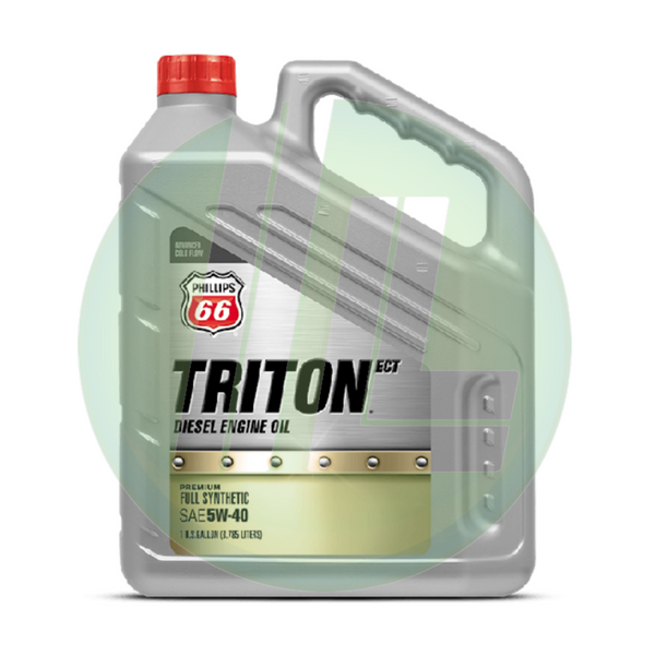 PHILLIPS 66 Triton ECT Premium Full Synthetic API 5W-40 Diesel Engine Motor Oil - Case