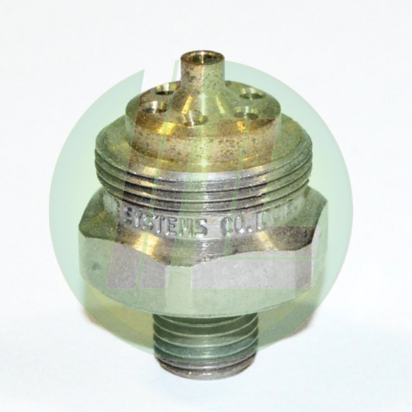 "Spray Systems Co. PF100150 1/4""J Brass Fluid Cap for Air Atomizing Spray Performance Setup SU42 , SU46, SU43, SUE45 & SU5"