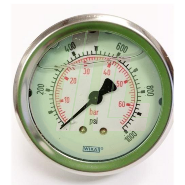 Wika 50340166 Industrial Pressure Gauge with 0-1000 PSI and Back Mount