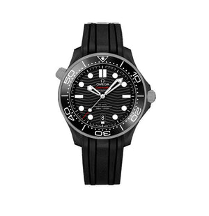 Replica Omega Co-axial Seamaster Professional  42 mm Black Dial Rubber - TimeLux - Replica Watches Greece
