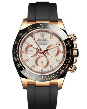 Replica Rolex Daytona Cosmograph Gold White Dial Black Ceramic Bezel Baselworld 2017 - TimeLux - Replica Watches Greece