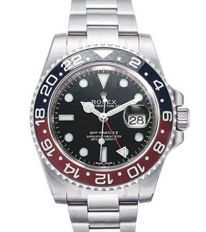 Replica Rolex GMT-Master II SS Black/Red Coca-Cola Ceramic Bezel - TimeLux - Replica Watches Greece