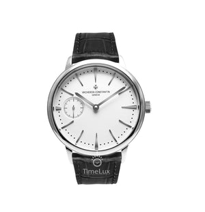 Replica Vacheron Constantin Patrimony Ultra-Thin Silver Black Strap - TimeLux - Replica Watches Greece