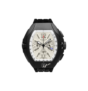 Replica Franck Muller Black Case Black Rubber Chronograph White Dial - TimeLux - Replica Watches Greece