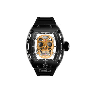 Replica Richard Mille RM-052 Black Case Gold Skull Turbillon - TimeLux - Replica Watches Greece