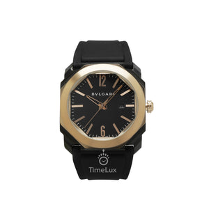 Replica Bvlgari Octo 41mm Gold Bezel Black Dial - TimeLux - Replica Watches Greece