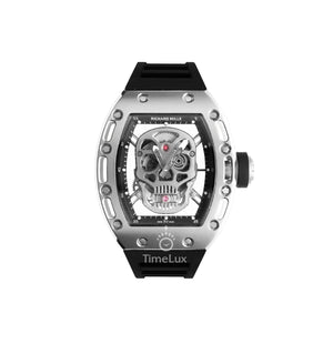 Replica Richard Mille RM-052 Silver Case Silver Skull Turbillon - TimeLux - Replica Watches Greece