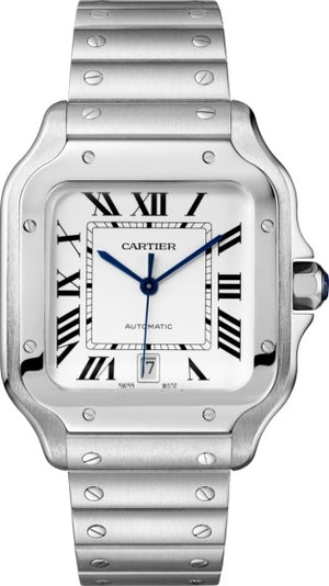 Replica Cartier, de Santos Silver White Dial - TimeLux - Replica Watches Greece