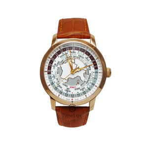 Replica Vacheron Constantin Traditionnelle Wolrd Time Brown Strap - TimeLux - Replica Watches Greece