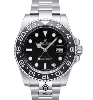Replica Rolex GMT-Master II SS Black Ceramic Bezel - TimeLux - Replica Watches Greece
