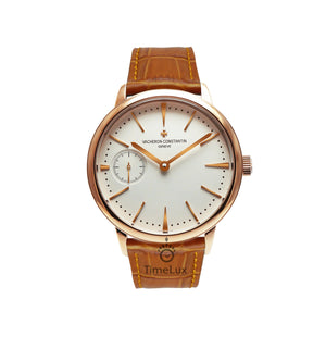 Replica Vacheron Constantin Patrimony Ultra-Thin Gold Brown Strap - TimeLux - Replica Watches Greece