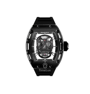 Replica Richard Mille RM-052 Black Case Black Skull Turbillon - TimeLux - Replica Watches Greece