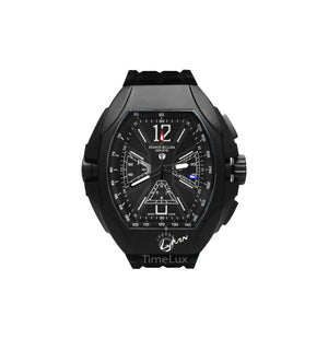 Replica Franck Muller Black Case Black Rubber Chronograph Black Dial - TimeLux - Replica Watches Greece