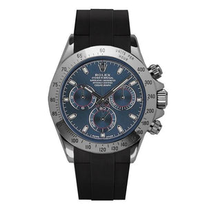 Replica Rolex Cosmograph Daytona Blue Dial Strap Rubber B - TimeLux - Replica Watches Greece