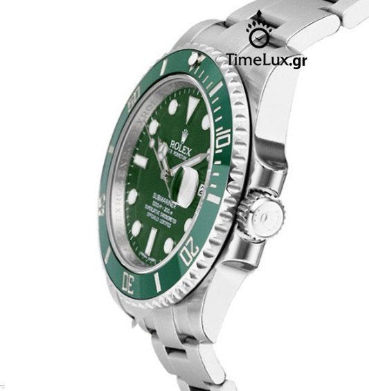 133f7ea896 Replica Rolex Submariner SS Green Ceramic Bezel - TimeLux - Replica Watches  Greece