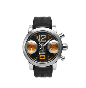 Replica Graham Chronofighter Vintage GMT Orange Yellow Black Dial - TimeLux - Replica Watches Greece