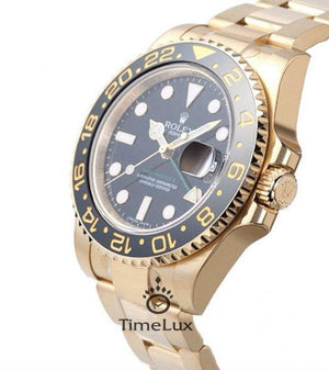 Replica Rolex GMT-Master II SS Gold Black Ceramic Bezel - TimeLux - Replica Watches Greece