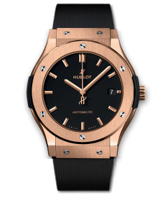 Replica Hublot Classic Fusion Gold Black Dial 42mm - TimeLux - Replica Watches Greece