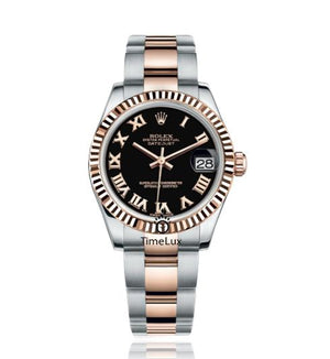 Replica Rolex Datejust 31mm 2-Tone Bronze Fluted Bezel Roman Markers - TimeLux - Replica Watches Greece