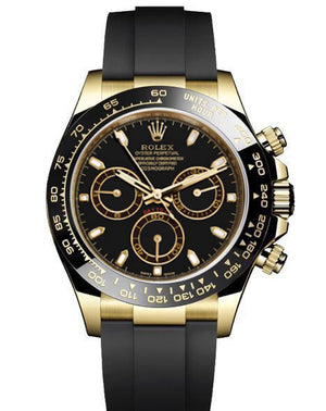 Replica Rolex Daytona Cosmograph Black Dial Black Ceramic Bezel Sticks Markers Baselworld 2017 - TimeLux - Replica Watches Greece