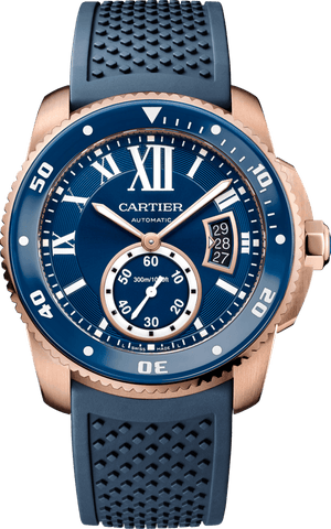Replica Cartier, Calibre De Cartier Diver Blue Watch - TimeLux - Replica Watches Greece
