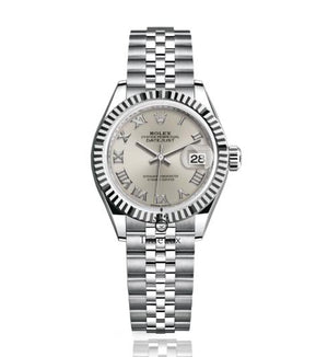 Replica Rolex Datejust Lady 28mm Silver Dial Roman Markers - TimeLux - Replica Watches Greece