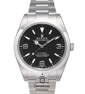 Replica Rolex Explorer 39mm Black Dial - TimeLux - Replica Watches Greece