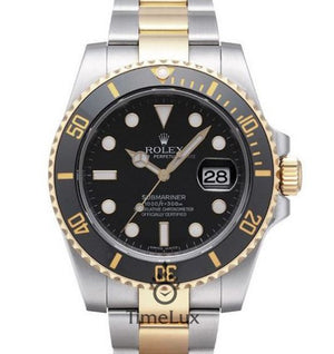 Replica Rolex Submariner 2-Tone Black Ceramic - TimeLux - Replica Watches Greece