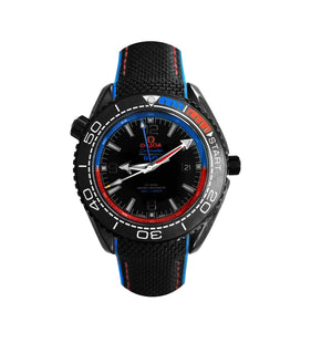 Replica Omega Co-axial Seamaster CHRONOMETER 43.5 mm Blue/Red Bezel - TimeLux - Replica Watches Greece
