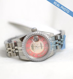 Replica Rolex Datejust Lady 28mm Pearl Dial Roman Markers - TimeLux - Replica Watches Greece