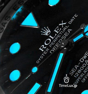 Replica Rolex Sea-Dweller Deepsea D-Blue Dial Ceramic Strap Rubber B - TimeLux - Replica Watches Greece