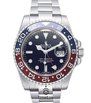 Replica Rolex GMT-Master II SS Blue/Red Pepsi Ceramic Bezel Blue Dial 2018 - TimeLux - Replica Watches Greece