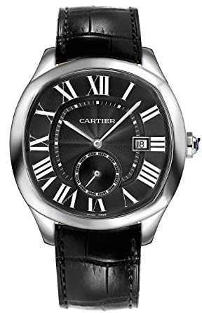 Replica Cartier, Drive de Cartiert Watch Silver Leather Strap - TimeLux - Replica Watches Greece