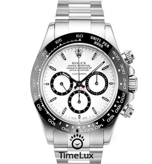 Replica Rolex Cosmograph Daytona SS Ceramic White Dial - TimeLux - Replica Watches Greece